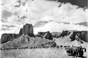 "Flaming Cliffs of Shabarahk Usu, Mongolia, 1925,"" AMNH Digital Special Collections, http://images.library.amnh.org/digital/items/show/25703"