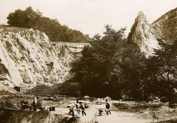 Quarry workers in the 19th century